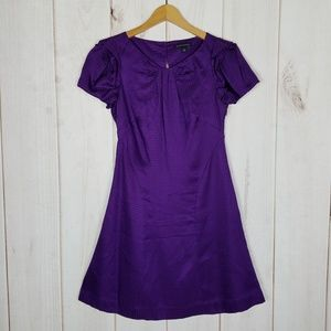 Banana Republic | Silk Purple Dress Short Sleeve